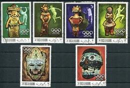 OLYMPIC MEXICO 1968, SCULTURE ESCULTURAS. RAS AL KHAIMA MICHEL 259 / 262 COMPLETE SERIE OBLITERES - LILHU - Verano 1968: México