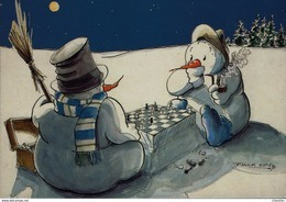 Schaken Schach Chess Ajedrez - AK - Icy Chess - Echecs