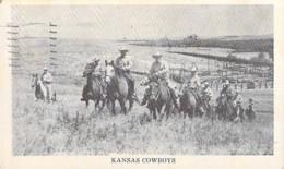 USA Etats Unis ( KS Kansas ) KANSAS COWBOYS - CPSM Format CPA 1946 - - Non Classés