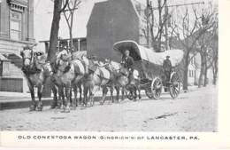 USA Etats Unis ( PA Pennsylviana ) LANCASTER Old Conestoga Wagon (Gringrich's) Attelage Chevaux / Horse Hitch - CPSM PF - Lancaster