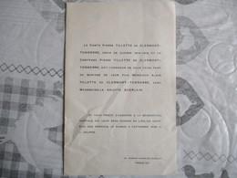 LE BOIS-DIEU-LES MESNULS LE 3 SEPTEMBRE 1949 MADEMOISELLE ARLETTE GUERLAIN AVEC MONSIEUR ALAIN TILLETTE DE CLERMONT TONN - Wedding