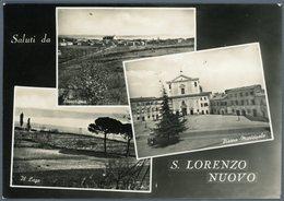 °°° Cartolina N. 71 Saluti Da S. Lorenzo Nuovo Vedutine Viaggiata °°° - Viterbo