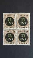 Nederland/Netherlands - Nr. PV1A In Blok Van 4 - Portomarken