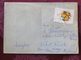 Hungary 1964 Cover Budapest To England - Fruit Peaches - Hungary