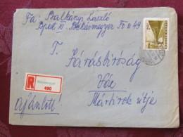 Hungary 1964 Registered Cover Bekasmegyer Budapest To Voc - Train - Hungary
