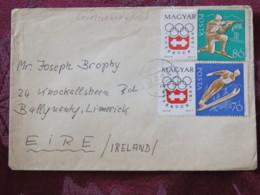 Hungary 1965 Cover Godollo To Ireland - Insbruck Olympic Games - Ski - Shooting - Hungary