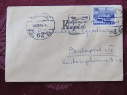 Hungary 1966 Small Cover Budapest To Budapest - Autobus - Hungary