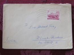 Hungary 1966 Cover Miskolc To Switzerland - Autobus - Covers & Documents