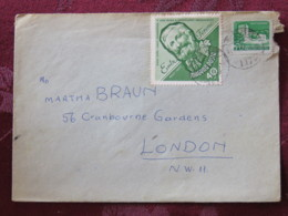 Hungary 1966 Cover Budapest To England - Castle - Grapes Horticulturist - Hungary
