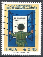 """Italia, 2006 Quotidiano """"Il Giorno"""", 0,45 €  # Sassone 2900 - Michel 3109 - Scott 2743  USATO - 6. 1946-.. Repubblica"""