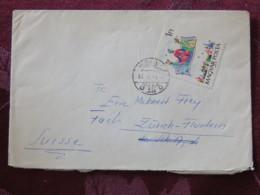 Hungary 1966 Cover Miskolc To Switzerland - Fairy Tales - Flying Carpet - Hungary