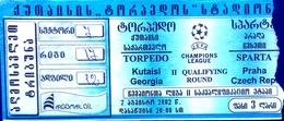 Football Tickets -  F.C. TORPEDO Kutaisi V. SPARTA Praha , 2002 , EURO - CUP. - Tickets D'entrée
