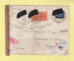 Italie - Lettre Express Destination France - Censures - Voir Au Dos - 1942 - 9. WW II Occupation (Italian)