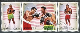 BOXING - THE WORLD CHAMPIONSHIP 1971. FUJEIRA 1971 MICHEL 689 / 691 COMPLETE SERIE OBLITERES - LILHU - Fujeira