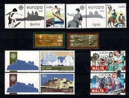 Malta 1980/83 EUROPA Yv. 603/04**, 616/17**, 649/50**, 668/69**, Mi 615/16**, 628/29**, 661/62**, 680/81** - Malte