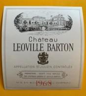 9555 - Château Leoville Barton 1968  St-Julien - Bordeaux