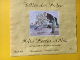 9223 - Délice Des Préfets Illustration André-Paul Perret Suisse 2 étiquettes - Nomi