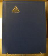 MONDOSORPRESA, (ABLN°17) RACCOGLITORE USATO, CLASSIFICATORE FRANCOBOLLI KK EXPORT, 8 PAGINE, SFONDO BIANCO - Classificatori