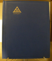 MONDOSORPRESA, (ABLN°17) RACCOGLITORE USATO, CLASSIFICATORE FRANCOBOLLI KK EXPORT, 8 PAGINE, SFONDO BIANCO - Stockbooks