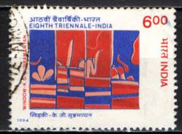 INDIA - 1994 - TRIENNALE D'ARTE INDIANA - USATO - Usati