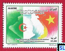 Algeria Stamps 2017, Diplomatic Relations With Vietnam, MNH - Algeria (1962-...)