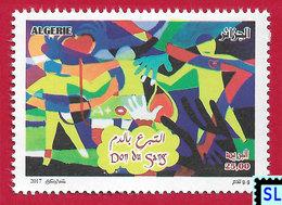 Algeria Stamps 2017, Blood Donation, MNH - Algeria (1962-...)