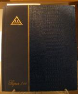 MONDOSORPRESA, (ABLN°20) RACCOGLITORE USATO, CLASSIFICATORE FRANCOBOLLI KK SUPER, 10 PAGINE, SFONDO BIANCO - Stockbooks