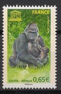 France - 2008 - Service N°Yv. 140 - Gorilles - Neuf Luxe ** / MNH / Postfrisch - Gorilles
