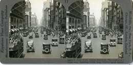New York City ~ CARS & TOUR BUSES ON FIFTH AVENUE ~ Stereoview 26493 17 18989 - Photos Stéréoscopiques