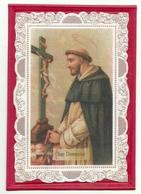 PS54---SAN DOMENICO---ICONOGRAFIA APPLICATO SU CARTONC. LAVORATO A MANO FORMATO TIPO QUADRETTO - Religion & Esotérisme