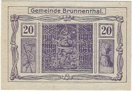 Austria (NOTGELD) 20 Heller 8-5-1920 Brunnenthal - Austria