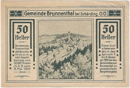 Austria (NOTGELD) 50 Heller 8-5-1920 Brunnenthal - Austria