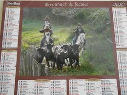 Almanach/calendrier Oberthur 2010 LES GARDIANS DE LA MANADE BLANC, DOMAINE DE PAULON EN CAMARGUE +CHEVAUX BLANC - Grand Format : 2001-...
