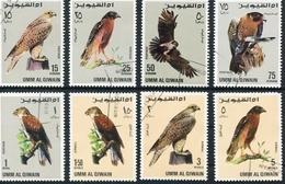 HALCON, FALCO, HAWK. UMM AL QIWAIN MICHEL 225 A / 232 A COMPLETE SERIE OBLITERES - LILHU - Umm Al-Qiwain