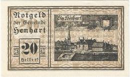 Austria (NOTGELD) 20 Heller 31-12-1920 Henhart - Austria