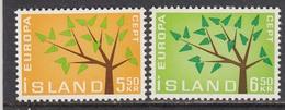 Iceland 1962 - EUROPA CEPT, Mi-Nr. 364/65, MNH** - 1944-... Republic