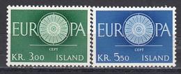 Iceland 1960 - EUROPA CEPT, Mi-Nr. 343/44, MNH** - 1944-... Republic