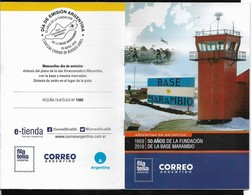 ARGENTINA 2019 ANTARCTIQUE MARAMBIO STATION 50°ANIV,AVIATION,AVIONS OFFICIAL PROSPECT - Argentinië