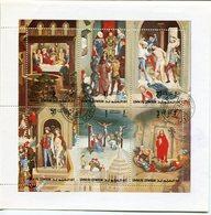 THE PASSION OF CHRIST BY HANS MEMLING. UMM AL QIWAIN 1971 MICHEL 515 A / 520 A COMPLETE SERIE OBLITERES - LILHU - Umm Al-Qiwain