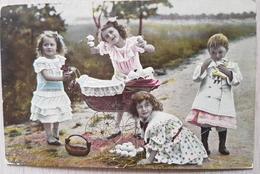 Children Playing - Cartoline
