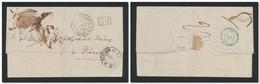 POSTE FRANÇAISE EN TURQUIE (Levant) 1838 Lettre De Purifiée Au Lazaret De Malte Pour Paris PP (sans Texte) - Postmark Collection (Covers)