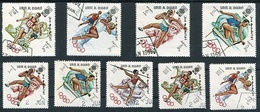 OLYMPIC MEXICO 1968. UMM AL-QIWAIN 1969 MICHEL 264 A / 272 A COMPLETE SERIE OBLITERES - LILHU - Umm Al-Qiwain