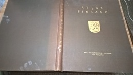 SUOMEN KARTASTO 1925 (ATLAS Of FINLAND - ATLAS OVER FINLAND) - The GEOGRAPHICAL SOCIETY Of FINLAND - 160PGS (8+38X4) - - Books, Magazines, Comics