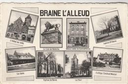 Braine -l'Alleud ,multivues ,hotel De Ville ,lion ,institut Ste Marie ,gare , Parvis ,collége Cardinal Mercier Waterloo - Braine-l'Alleud