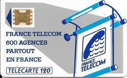 CARTE-PUBLIC120U--600 AGENCES-Te10-SC5on ENTOURAGE-5 IMPACT-N°19747-UTILISEE-T B E-LUXE - Frankrijk