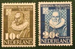 375 Jaar Leidse Universiteit NVPH 561-562 (Mi 563-564) 1950 Gestempeld / Used NEDERLAND / NIEDERLANDE - 1949-1980 (Juliana)