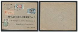 OCÉANIE Etablissements 1928 - Lettre De PAPEETE Pour Angoulême Avec Annulation Du Timbre 40c à L'arrivée - Oceania (1892-1958)