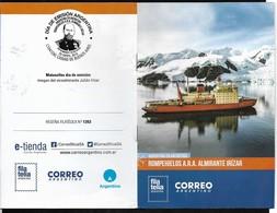 ARGENTINA 2019 ANTARCTIC BRICE-GLACE IRIZAR BATEAUX,FAUNA MANCHOTS UNUSUAL COATING OFFICIAL PROSPECT - Argentinië