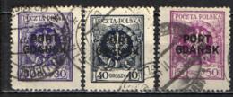 POLONIA - 1925 - OCCUPAZIONE GDANSK - USATI - Ocupaciones