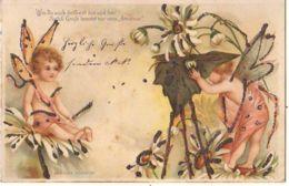 N°12435 - Carte à Paillettes - Clapsaddle - Wie Du Auch Denkest ... Nur Vom Amateur - Anges Dans Des Fleurs - Angels